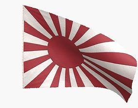 3D model The Japanese Rising Sun Flag