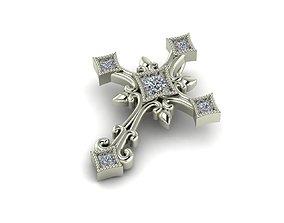 3d-model 3D printable model Pendant Cross