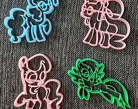 3D print model Pony x 4 Cookie Cutter