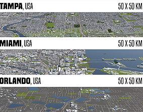 3D Florida 3 Cities
