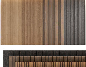 Wood panels set4 3D