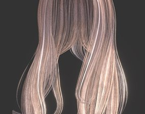 Woman hairstyle 3D asset game-ready