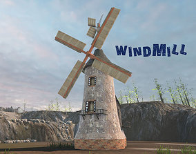 Windmill 3D model animated
