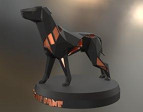 Voronoi Boxer Great Dane 3D printable model