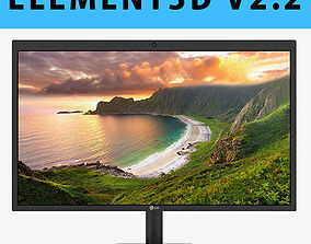 E3D - LG UltraFine 5K Display 3D model