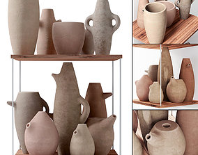 3D Clay dishes old style n1
