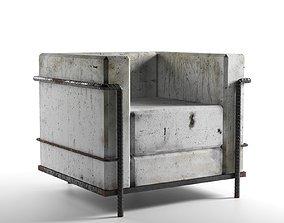 Concrete Armchair 3D model
