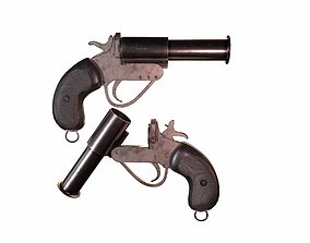 WW2 British Flare Gun 3D model