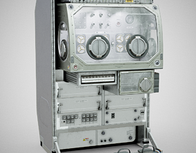 3D asset Microgravity Science Glovebox - ISS MSG