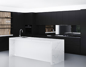 Glamour Black Kitchen by LAMINEX black 3D