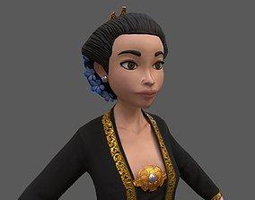 3D asset low-poly Kartini