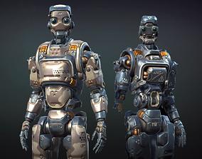 3D model Destructible Humanoid Robot