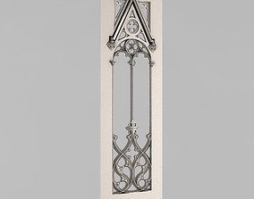 Carved door 3D printable model furniture