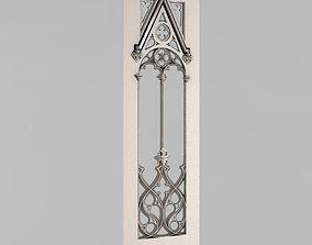 Carved door 3D printable model furniture