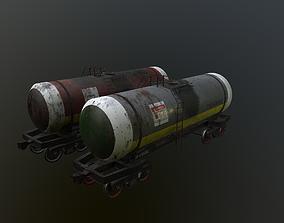 3D asset VR / AR ready Railway cistern