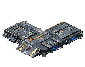 3D Spacecraft - Ground Platform 05