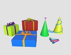Happy Birthday pack 3D model