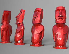 Lowpoly Moai statue - Easter Island 3D print model
