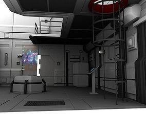 Scifi enviroment pack 3D asset low-poly