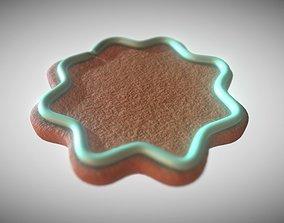 Gingerbread light green decoration low medium 3D asset 1