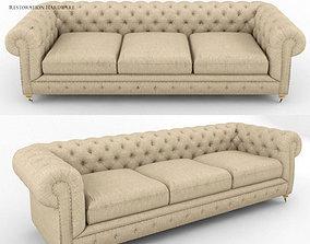3D model Kensington Upholstered Sofa RH