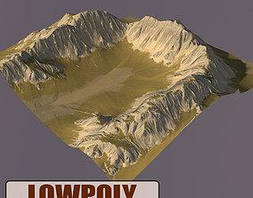 Lowpoly Mountain mountain 3D model realtime