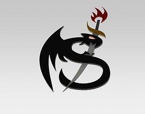 3D model Dragon Sword Emblem