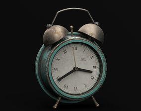 Vintage Rustic Alarm Clock 3D model