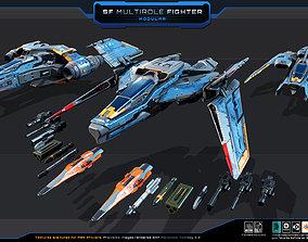 SF Multirole Fighter - MODULAR 3D asset