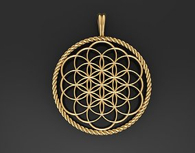 Flower of Life pendant 3D printable model life