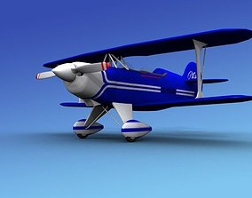 Pitts Special 3D rigged biplane