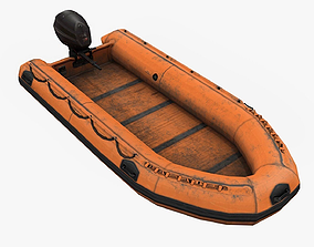 3D asset game-ready Inflatable Boat