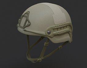 3D model Ops Core Sentry mid cut military helmet foliage 1