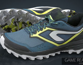 3D asset Hiking shoes 2
