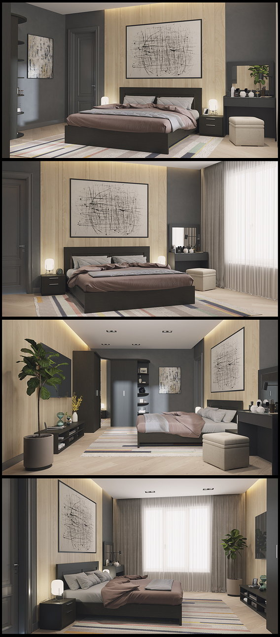 Bedroom in the modern style