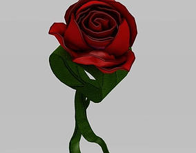Bracelet with realistic roses 3D model