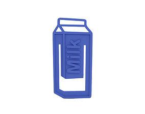 Paper clip 3D print model milk