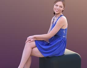 Valeska 10245 - Sitting Elegant Girl 3D asset