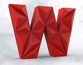 3D printable model Lowpoly letter W