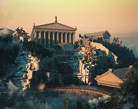 Roman Temple Temple Greek Mythology Norse 3D model 1