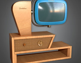 3D model Retro Television Midcentury Collection PBR Game 1