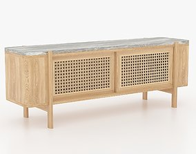 Tv Cabinet 3D model wooden