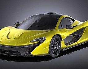 McLaren P1 2016 VRAY 3D
