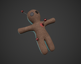 3D model game-ready Voodoo Doll