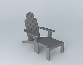 3D Adirondack lounge chair