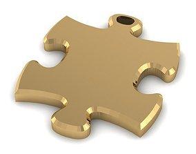 puzzle 3D printable model Pendant