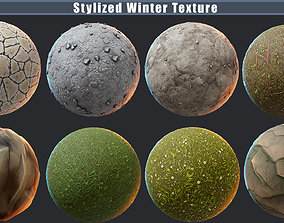 3D Stylized Nature PBR texture pack