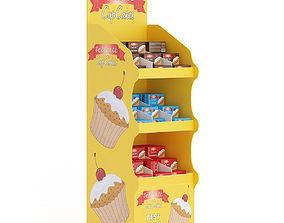 Market Shelf Cupcakes 3D model