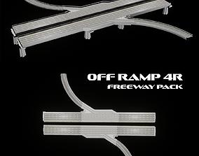 3D model Off ramp 4r - freeway pack