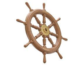 yacht 3D model Ship Wheel